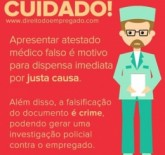 Atestado médico falso - Justa causa
